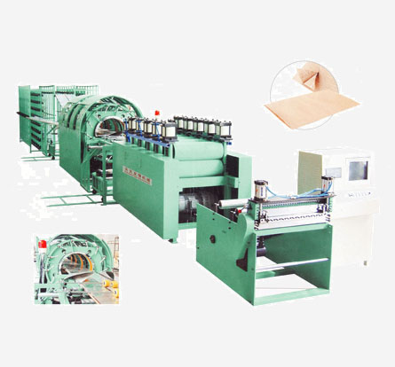Paper yarn cement bag making machine